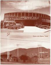 Alpine Texas Kokernot Field Cowboys Baseball Stadium Postcards by Vic Pallos