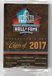 Panini NFL Pro Football Hall of Fame Class of 2017 Collector's Sealed Pack Set