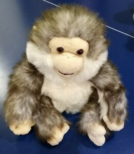 """Toys r Us EXCLUSIVE 9.5"""" Animal Alley Monkey Plush Puppet Grey Soft Furry Cute"""