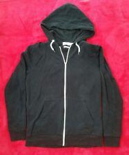 Topman Classic Black zip up hoodie -New/XXS-white trim