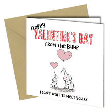 #867 Valentines Day Card Mum Dad Daddy Mummy To Be From The Baby Bump First Card