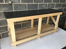 HAND MADE WORK BENCH NEW 6FT LONG KITCHEN WORKTOP STYLE - HEAVY DUTY