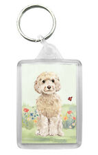 Cockapoo (Cream) Dog Keyring Keyfob Lovely Image Fun Gift Present Idea