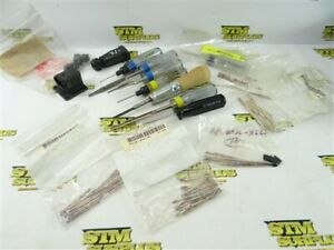 LOT OF NEW ASSORTED AMPHENOL CONNECTOR PINS & INSERTION TOOLS