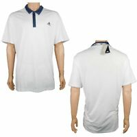 Adidas Men's ClimaCool Performance Polo Golf Shirt UPF 50+ Size 2XL White Navy
