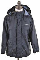 REEBOK Boys Rain Jacket 11-12 Years Black Nylon Vintage KB19