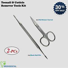 2-PCs Professional Toenail Cuticle Remover Tools Thick Nail Scissor Foot Care CE
