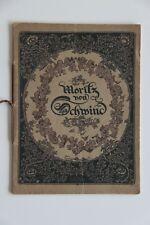 Moritz von Schwind/ antiquarisches Kunstheft 1913 / Verlag von Jos. Scholz Mainz