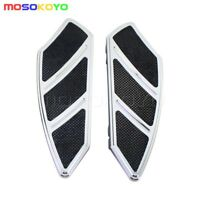Front Rider footboard floorboard inserts For Harley Touring Softail 84-15 Chrome