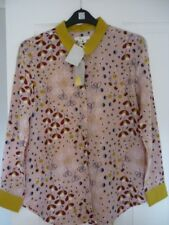 BODEN THE SILK SHIRT in MILKSHAKE MEADOW. UK 14, EUR 40-42, US 10. BNWT WA786