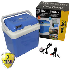 24L Coolbox Cold Or Hot Cool Box Portable Electric Car Van Home 12V DC & 240V AC