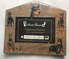 Dog House Picture Hound Maple Lane Press Paperboard Frame New Doberman Pinscher
