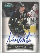 2006-07 Parkhurst Hockey Neal Broten Autograph Card # 26 On Card Auto!
