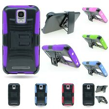 For ZTE Concord 2 II Hybrid Dual Hard + Soft Belt Clip Holster Stand Cover Case