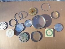 Waltham & Elgin Automobile Car Or Aviation 8 Day Clock Parts Dials Bezels +