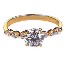 D/VVS1 Round Cut 2.30Ct Solitaire With Accents Wedding Ring In 14KT Yellow Gold