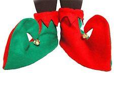 Duende De Navidad De Fieltro Zapatos Botas cubierta Unisex Accesorio Disfraz Verde elfos 1 Tamaño