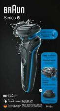 Braun - Series 5 EasyClean Wet/Dry Electric Shaver - Blue