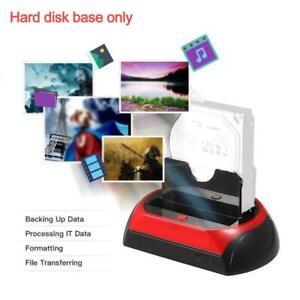NEW HDD Docking Station SATA IDE Dual USB 2.0 Clone Hard Drive Card Reader