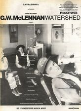29/6/91 Pgn55 Advert: G.w.mclennan watershed His Strongest Work Yet 15x11