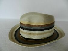 Stetson Adkins Men's Straw Hat Made In USA Size 7 1/4