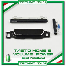 KIT TASTO HOME e TASTI VOLUME E ACCENSIONE per Samsung Galaxy S3 i9300 NERO