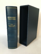 More details for  margaret thatcher signed collected speeches very rare lettered ed leather