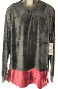 Akademiks velour sweatshirt, premium two tone urban hip hop jumper, top zips
