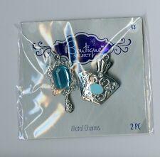 Blue moon vanity blue mirror and perfume bottle pendants. Set of 2.