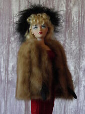 "AllforDoll ""1930s Fashion"" short Fur WRAP for 16 Tonner Gene Ficon BJD Doll"