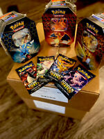 ONE Charizard GX Pokemon TCG HIDDEN FATES TIN NEW & SEALED IN STOCK LIMITED QTY!