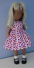 BJB Vintage Sasha doll clothes, Pretty purple red and white floral dress