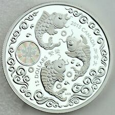 Canada 2015 $15 Maple of Prosperity 1 oz. 99.99% Pure Silver Hologram Proof Coin
