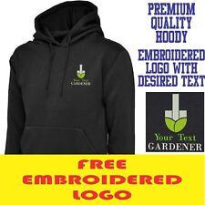 Personalised Embroidered  Hoodie GARDENER Workwear UNIFORM LOGO
