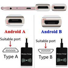 Qi Inalámbrico Cargador Receptor Adaptador receiptor para iOS de Apple Android Tipo C A B