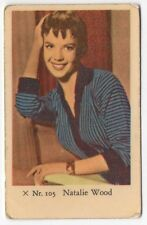 1950s Swedish Film Star Card X Set #105 US West Side Story Actress Natalie Wood