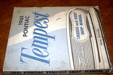 1961 61 Pontiac Service Repair Workshop Manuals Factory Tempest Lemans Le Mans