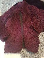 Next Ladies Teddy Bear Borg Fluffy Coat Jacket Size 6 UK VGC