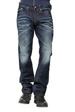 Replay Herren-Straight-Cut-Jeans aus Denim mit niedriger Bundhöhe (en)