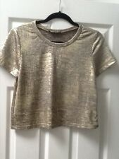 GOLD CROP TOP by Honey Punch Size S