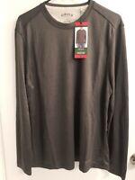 Orvis Men's Cascade Long Sleeve Crew Neck Shirt Medium Cinder Gray