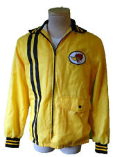 Racing stripe jacket yellow black bumble bee woodpecker patch midas cafe vintage