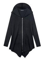 Urban CoCo Women's Plus Size Hooded Sweatshirt Jacket Cardigan Black 5XLarge