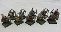 Warhammer Dwarf Miners Warriors army lot metal oop painted Dispossessed AOS