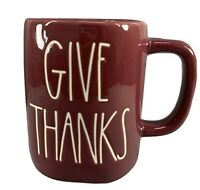 Rae Dunn NEW RELEASE ***GIVE THANKS*** Mug red Burgundy VHTF
