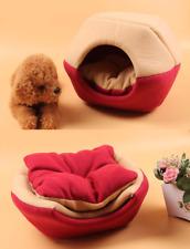 Foldable Cat Dog Sleeping Kennel Mat Pet Bed Nest Blanket Soft Warm 2 Uses House