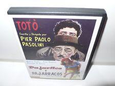 pajaritos y pajarracos - pasolini - dvd - toto