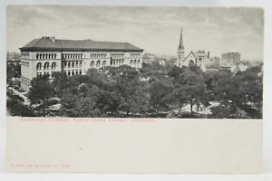 Postcard Newberry Library North Clark Street Chicago Illinois IL RPPC*