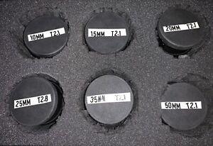 Lomo Kinor Film Lens Set. PL mount. 16mm Format