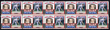 GREG MADDUX BASEBALL GREAT HALL OF FAME INDUCTEE STRIP OF 10 MINT STAMPS